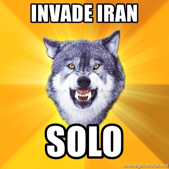 Courage Wolf - invade iran solo