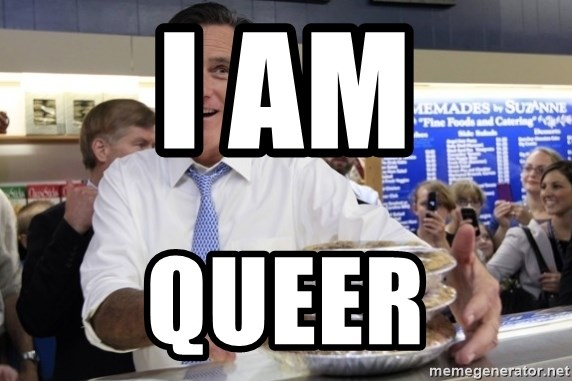 Romney with pies - I AM QUEER