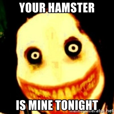 Tipical dream - YOUR HAMSTER IS MINE TONIGHT