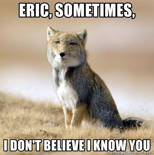Eric Sometimes I Dont Believe I Know You Disappointed Tibetan