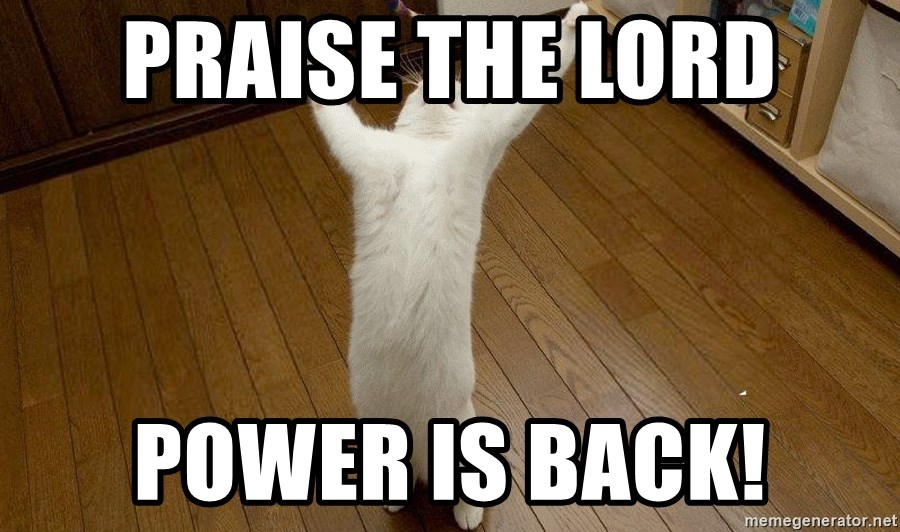 praise the lord cat - PRAISE THE LORD POWER IS BACK!