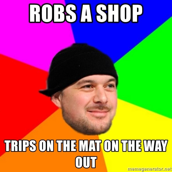 King Kool Savas - ROBS A SHOP  TRIPS ON THE MAT ON THE WAY OUT