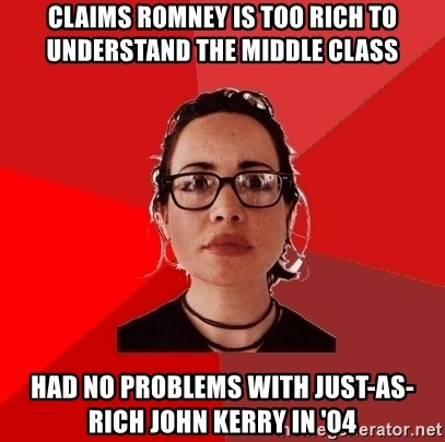 Liberal Douche Garofalo - Claims Romney is too rich to understand the middle class hAD NO PROBLEMS WITH JUST-AS-RICH jOHN kERRY IN '04