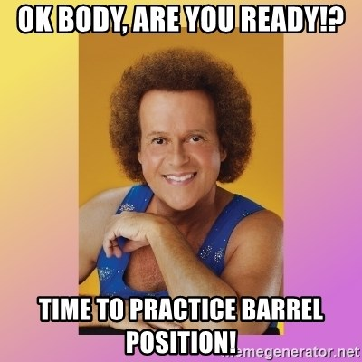 Richard Simmons - Ok body, are you ready!? Time To Practice barrel position!