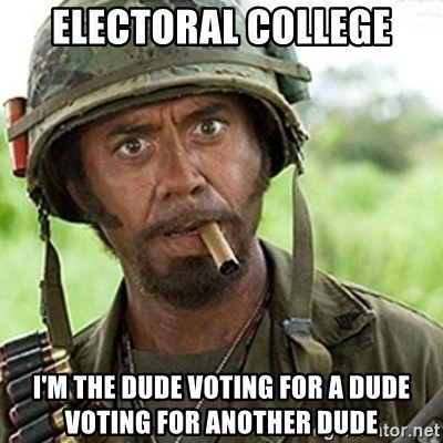 29661540 electoral college i'm the dude voting for a dude voting for,Electoral College Memes