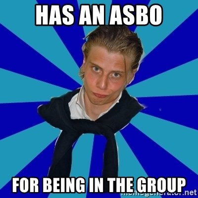Typical Mufaren - HAS AN ASBO FOR BEING IN THE GROUP