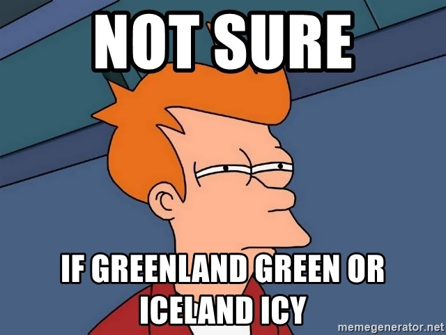 Futurama Fry - not sure  if greenland green or iceland icy