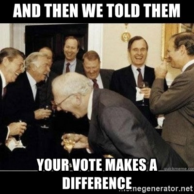Laughing Professors - and then we told them your vote makes a difference