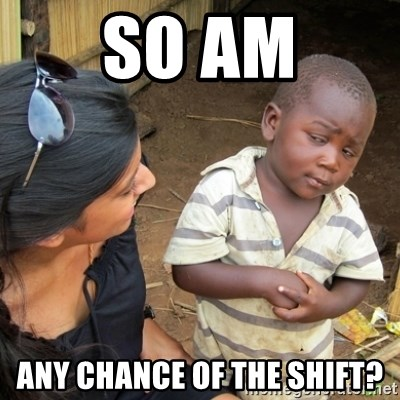 Skeptical 3rd World Kid - so am any chance of the shift?