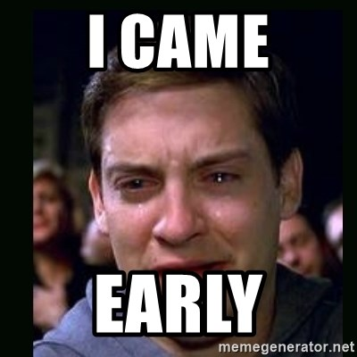 crying peter parker - i came early