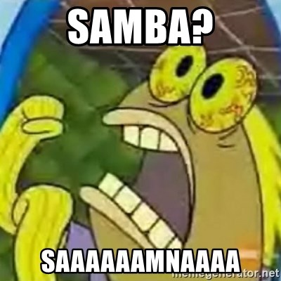 spongebob chocolate guy - Samba? Saaaaaamnaaaa