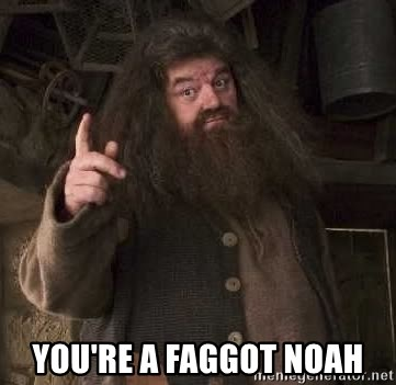 Hagrid - You're a faggot noah
