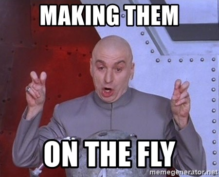 Dr. Evil Air Quotes - Making them On the fly