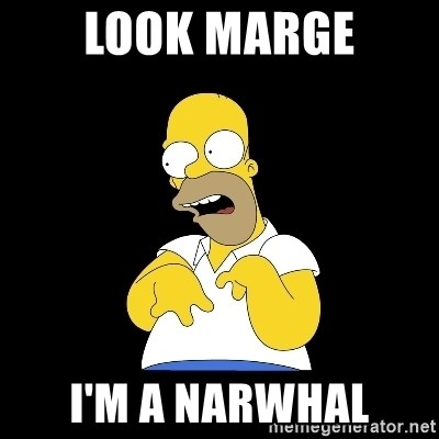 look-marge - LOOK MARGE I'M a NARWHAL