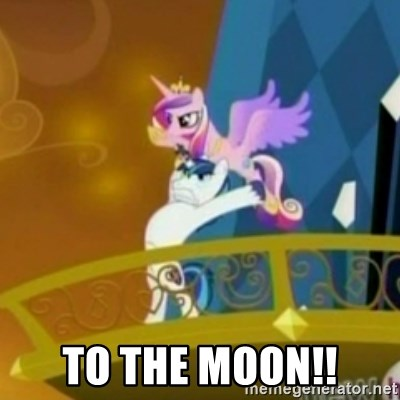 Shining Armor throwing Cadence - To the moon!!