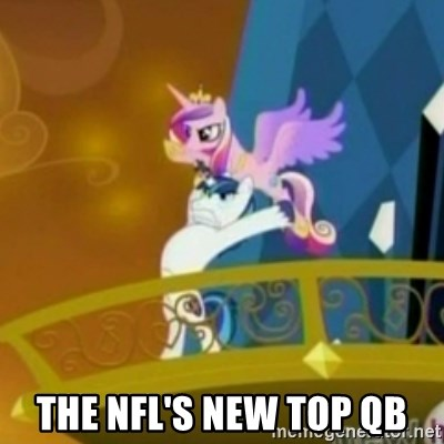 Shining Armor throwing Cadence - THe NFL's new top qb
