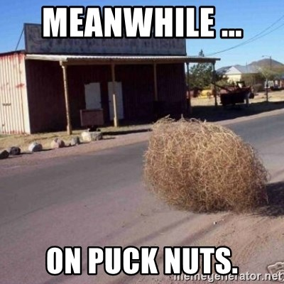 Tumbleweed - Meanwhile ...  On puck nuts.
