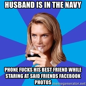 Middle Class Milf - Husband is in the Navy Phone fucks his best friend while staring at said friends facebook photos