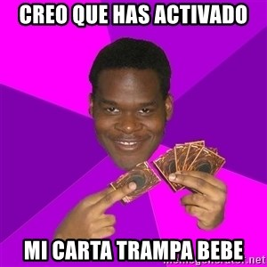 Cunning Black Strategist - creo que has activado mi carta trampa bebe