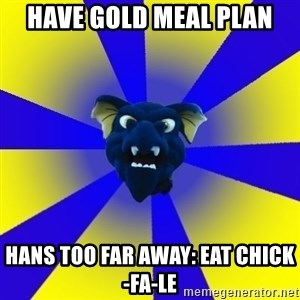 Drexel Dragon - HAVE GOLD MEAL PLAN HANS TOO FAR AWAY: EAT CHICK-FA-LE