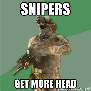 philosoraptor call of duty - Snipers get more heaD