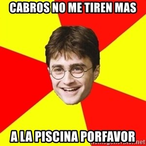 cheeky harry potter - cabros no me tiren mas a la piscina porfavor
