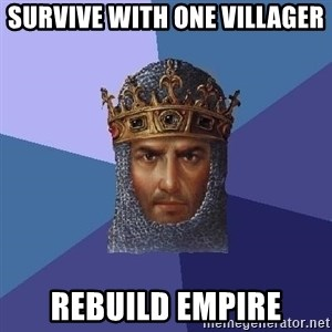 Age Of Empires - survive with one villager rebuild empire