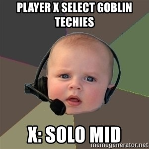 FPS N00b - player x select goblin techies x: solo mid