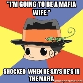 "Reborn Logic  - ""I'm going to be a mafia wife."" shocked  when he says he's in the mafia"
