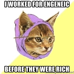 Hipster Kitty - i worked for engeneic before they were rich