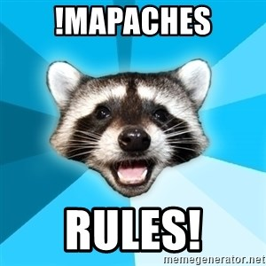 Lame Pun Coon - !mapaches rules!