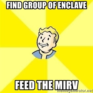 Fallout 3 - Find group of enclave feed the mirv