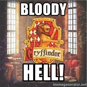 Typical Gryffindors - Bloody  Hell!