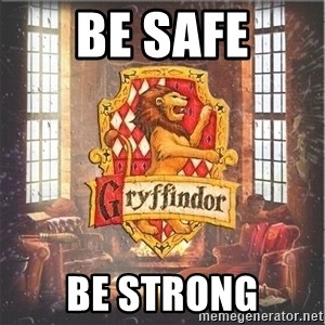 Typical Gryffindors - BE SAFE BE STRONG