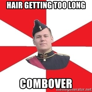 Model Cadet Mike - Hair getting too long Combover
