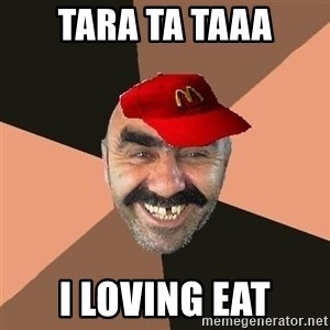 provincial man with mc cap - tara ta taaa i loving eat