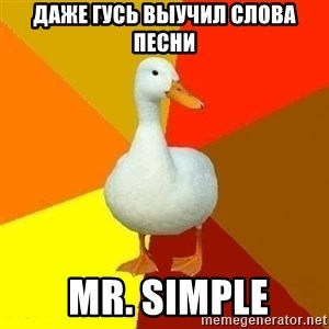 Technologically Impaired Duck - Даже гусь выучил слова песни  Mr. Simple