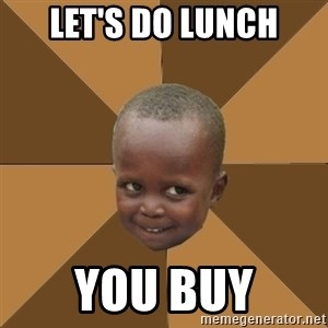 Homeless Haitian Child - LET'S do lunch you buy