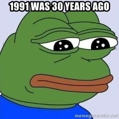 Sad Frog Color - 1991 was 30 years ago