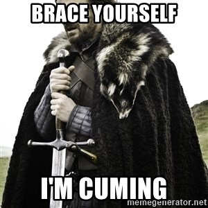 Ned Stark - brace yourself i'm cuming