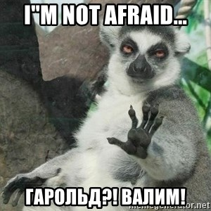"Not Today Lemur - i""M not afraid... ГАРОЛЬД?! ВАЛИМ!"
