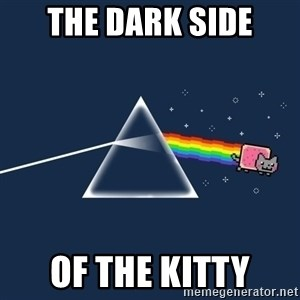 nyan cat - The dark side of the kitty