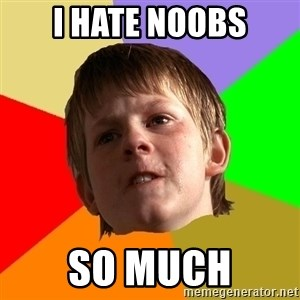 Angry School Boy - i hate noobs so much