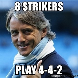 Mancini - 8 strikers play 4-4-2