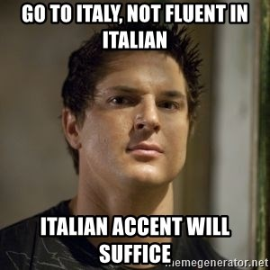 Zak Bagans - GO TO ITALY, NOT FLUENT IN ITALIAN ITALIAN ACCENT WILL SUFFICE