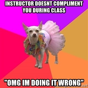 """Ballet Chihuahua - Instructor doesnt compliment you during class """"OMG IM DOING IT WRONG"""""""
