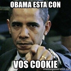 Pissed Off Barack Obama - obama esta con vos cookie