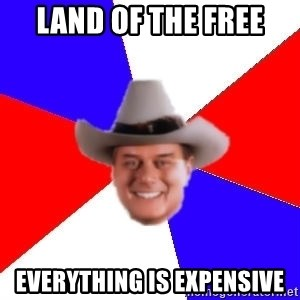 decadent american - land of the free everything is expensive