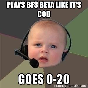 FPS N00b - plays bf3 beta like it's cod goes 0-20