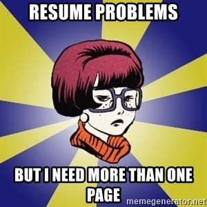 Smithies - resume problems but i need more than one page